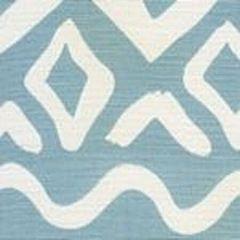 AC104-41 DEAUVILLE Bali Blue on White Quadrille Fabric