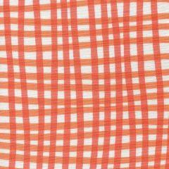 AC105-5WLC COUNTRY CHECK Orange Tangerine on White Quadrille Fabric