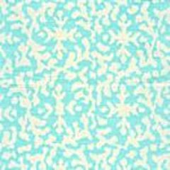 AC120-05 LAUREL REVERSE Pale Turquoise on White Quadrille Fabric
