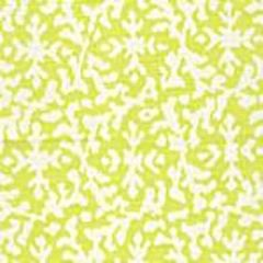 AC120-07 LAUREL REVERSE Pale Fern on White Quadrille Fabric