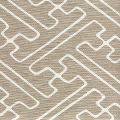AC207-21 SAYA GATA Pale Taupe on White Quadrille Fabric