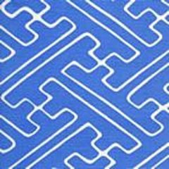 AC207-25 SAYA GATA French Blue on Tint Quadrille Fabric