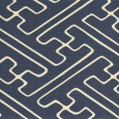 AC207-31 SAYA GATA Navy on Tint Quadrille Fabric