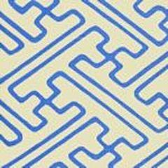 AC207-41 SAYA GATA French Blue Lines on Tint Quadrille Fabric