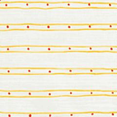 AC209-05 SOHO Inca Gold Orange on White Quadrille Fabric
