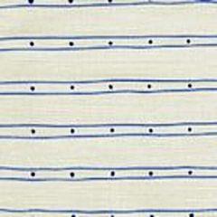 AC209-35 SOHO Pacific Blue New Navy on Tint Quadrille Fabric