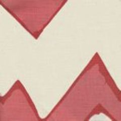 AC260-10 MONTECITO ZIG ZAG Coral on Tint Quadrille Fabric