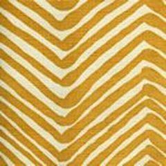AC302-13 ZIG ZAG Inca Gold on Tint Quadrille Fabric