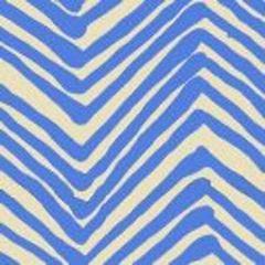 AC302-15 ZIG ZAG French Blue on Tint Quadrille Fabric