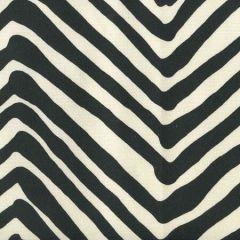 AC305-39 ZIG ZAG LARGE SCALE Black on Tint Quadrille Fabric
