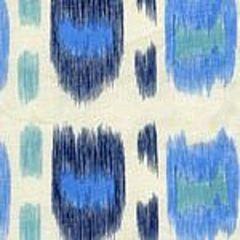 AC704-01CU CINTRA Multi Blues, Navy on Tint Quadrille Fabric