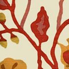 AC804-15 POTALLA Salmons, Yellow on Tint Quadrille Fabric