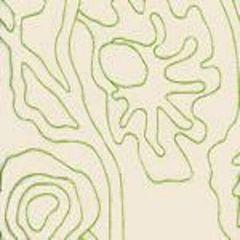 AC804L-32 POTALLA OUTLINE Jungle Green on Tint Quadrille Fabric