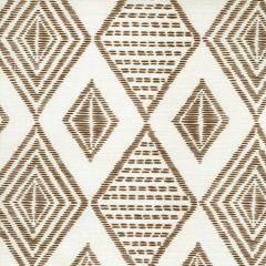 AC850-10 SAFARI EMBROIDERY Coco on Tint Quadrille Fabric