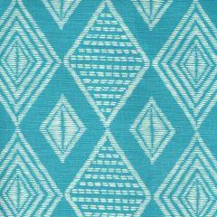 AC855-03 SAFARI Medium Turquoise on Tint Quadrille Fabric