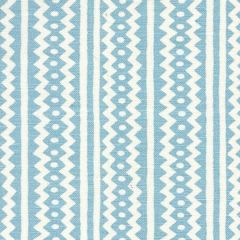 AC935-11 RIC RAC Pale Sky Blue On Tinted Linen Cotton Quadrille Fabric
