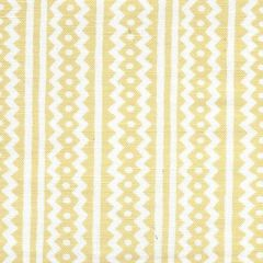 AC935WH-02 RIC RAC Gold On White Linen Cotton Quadrille Fabric