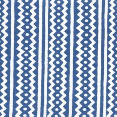 AC935WH-08 RIC RAC New Navy On White Linen Cotton Quadrille Fabric