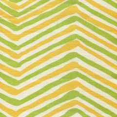 AC950-09 ZIG ZAG MULTI COLOR Lime Yellow on Tint Quadrille Fabric