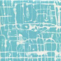 AC995-04 TWILL REVERSE Turquoise on White Quadrille Fabric