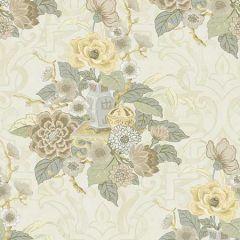 AI40005 Dynasty Floral Metallic Pearl Seabrook Wallpaper