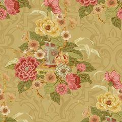 AI40010 Dynasty Floral Metallic Gold Seabrook Wallpaper