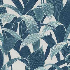 AI40302 Imperial Banana Groves Metallic Pearl and Azure Blue Seabrook Wallpaper