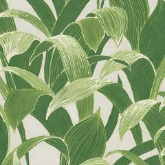 AI40304 Imperial Banana Groves Metallic Pearl and Forest Green Seabrook Wallpaper