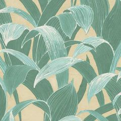 AI40305 Imperial Banana Groves Metallic Gold and Sea Green Seabrook Wallpaper
