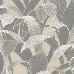 AI40308 Imperial Banana Groves Metallic Gold and Gray Seabrook Wallpaper