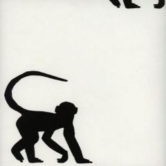 AMW10015-81 CHEEKY MONKEY Ebony Kravet Wallpaper