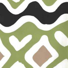 AP103-19 CAP FERRAT Jungle Green Taupe Black Quadrille Wallpaper