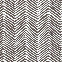 AP303-11PV PETITE ZIG ZAG Brown On White Vinyl Quadrille Wallpaper