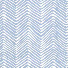 AP303-15WWP PETITE ZIG ZAG French Blue On White Quadrille Wallpaper