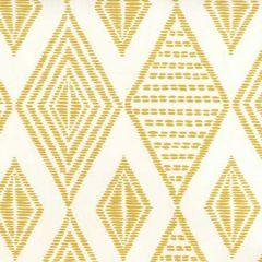 AP850-12 SAFARI EMBROIDERY Inca Gold On Almost White Quadrille Wallpaper