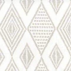 AP850-PGREY SAFARI EMBROIDERY Pale Grey On White Quadrille Wallpaper