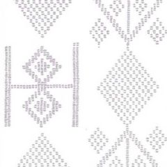 AP890-04AWP VACANCES Lilac On Almost White Quadrille Wallpaper