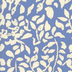 2035-04WP ARBRE DE MATISSE REVERSE French Blue On Off White Quadrille Wallpaper