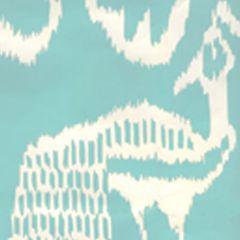 2430-51WP BALI II Aqua On White Quadrille Wallpaper