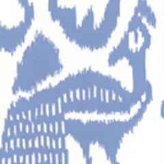 2435-30WP BALI ISLE French Blue On White Quadrille Wallpaper