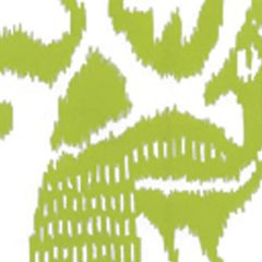 2435-52WP BALI ISLE Chartreuse On Almost White Quadrille Wallpaper