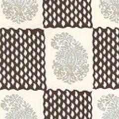 5090-01WP BANGALORE Taupe Brown Quadrille Wallpaper