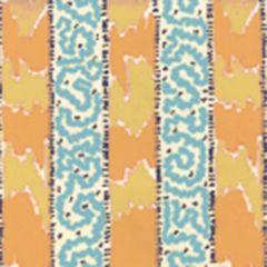 5060-04WP BIJOU STRIPE Yellow Blue Quadrille Wallpaper