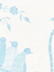 5050-02 BIRDS II New Blue on White Quadrille Fabric