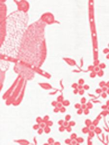 5050-05 BIRDS II Pink on White Quadrille Fabric
