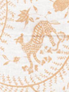 6770-04 CIREBON Apricot on White Quadrille Fabric