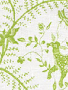 6770-02 CIREBON Grass Green on White Quadrille Fabric
