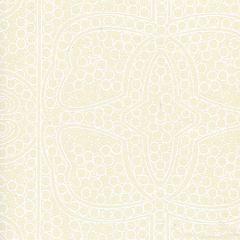CP1000W-01 PERSIA White On Tan Quadrille Wallpaper