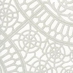 CP1030W-03 CAMELOT Grey On White Quadrille Wallpaper