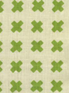 4130-02 CROSS CHECK Jungle Green on Tint Quadrille Fabric